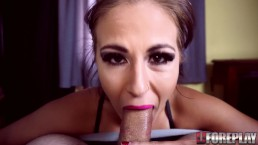 CUM IN THROAT - GAGGING WHILE TRYING TO DEEPTHROAT BIG COCK