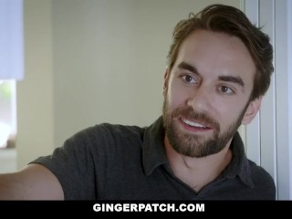 Preview 1 of GingerPatch - Firecrotch Cutie Sucks Stepdads Cock For Cash