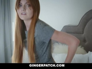 Preview 4 of GingerPatch - Firecrotch Cutie Sucks Stepdads Cock For Cash