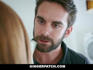 Preview 5 of GingerPatch - Firecrotch Cutie Sucks Stepdads Cock For Cash