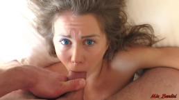 Sleeping stepsister wakes up from the dick in her mouth. Mia Bandini