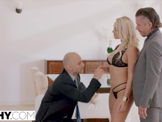 Preview 2 of TUSHY Alexis intense anal double penetration