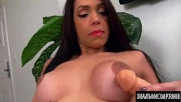 Busty Tgirl Julia Steinkopf Plays with Herself and Fucks a Dildo
