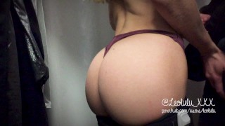 Preview 2 of Trying yoga pants and fucking in the shop! - LeoLulu Public Sex