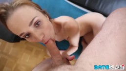 20yo Redhead Deepthroat Experience After First Date with This Chick