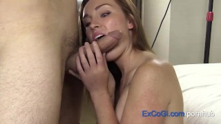 Preview 6 of Fun Redhead Amateur Hotel Suck, Fuck and Cum Facial