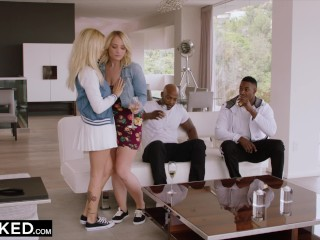 Preview 6 of BLACKED Two Curvy College Students Crave BBC