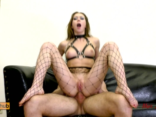 Preview 4 of Submissive anal slut gets ass to mouth fucked on a leash. Mia Bandini