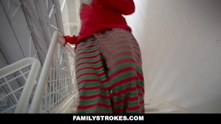 Preview 1 of FamilyStrokes - Christmas Morning Sex With My Stepdad