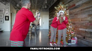 Preview 2 of FamilyStrokes - Christmas Morning Sex With My Stepdad