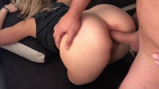 Preview 5 of Blonde Teen Takes Huge Cock IN HER ASS HARD ANAL ORGASM