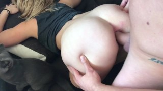 Preview 6 of Blonde Teen Takes Huge Cock IN HER ASS HARD ANAL ORGASM