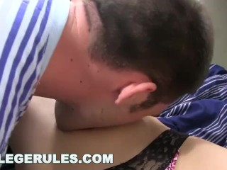 Preview 2 of COLLEGE RULES - These Young Sorority Hoes Like To Party! Watch 'Em Go Wild