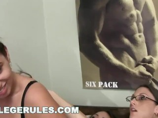 Preview 4 of COLLEGE RULES - These Young Sorority Hoes Like To Party! Watch 'Em Go Wild