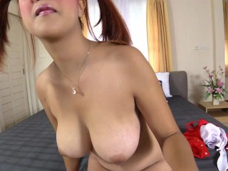 Preview 5 of Big DD naturals on Asian babe creampie