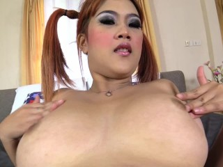 Preview 6 of Big DD naturals on Asian babe creampie