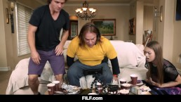 StepDaughter Jill Kassidy says FUCK football! Cum fuck me instead StepBro