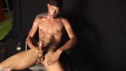 Brent Poses While Stroking His Dick