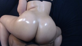 Preview 3 of Fucking my boys slut little sister doggy style, cumshot on bubble butt!