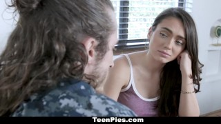 Preview 3 of TeenPies - Girlfriend Gets Creampied By Military Boyfriend