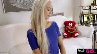 Preview 3 of Bratty Sis - Little Step Sister Falls For Brothers Valentines Day Surprise