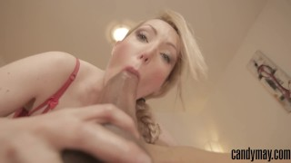 Preview 1 of Candy May - HUGE BBC BLOWJOB AND COWGIRL