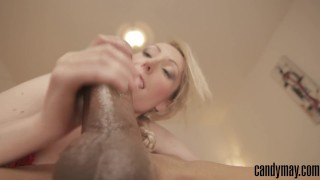 Preview 4 of Candy May - HUGE BBC BLOWJOB AND COWGIRL
