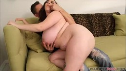 Sexy Huge Tit Chubby Teen Milly Marks Sucks and Fucks Huge White Cock