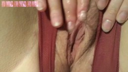 Close up masturbating my hairy pussy to real orgasm