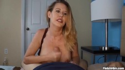 POV Busty Milf Punishes Young Couple
