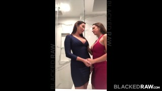 Preview 2 of BLACKEDRAW Two Party Girls Cheat With BBCs After The Club