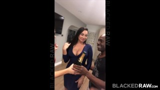 Preview 4 of BLACKEDRAW Two Party Girls Cheat With BBCs After The Club