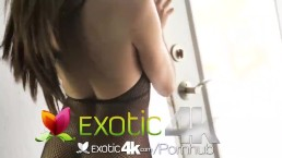 Exotic4k Latin Adrian Hush tied up fuck and dripping creampie
