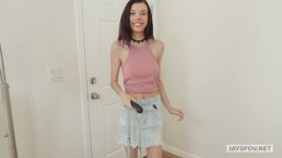 JAY'S POV - Skinny Teen Model Audrey Gets Creampied by Perv Photographer