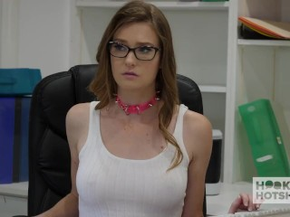 Preview 1 of Gorgeous Office Whore Gets Destroyed By Random Guy Off the Internet