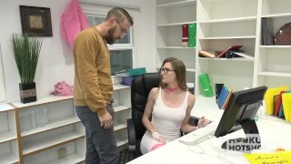 Preview 4 of Gorgeous Office Whore Gets Destroyed By Random Guy Off the Internet