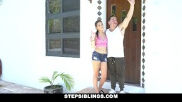 StepSiblings - Horny Stepsis Rubs One Out For Mean Stepbro