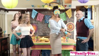Preview 3 of Step Sis And Teen Friend Sneak Fuck At Cinco De Mayo Party S2:E5