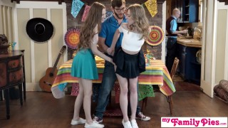 Preview 4 of Step Sis And Teen Friend Sneak Fuck At Cinco De Mayo Party S2:E5