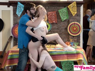 Preview 5 of Step Sis And Teen Friend Sneak Fuck At Cinco De Mayo Party S2:E5