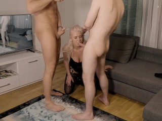 Preview 4 of My best threesome deepthroat ever with Pornhub Friend Day One