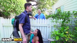 BANGBROS - Horny Priya Price Fucks The Gardener Behind Her Husband's Back!