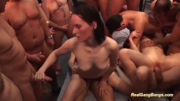 real gangbang party orgy with sexy chicks
