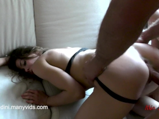 Preview 5 of Real female orgasm and passionate fuck with anal, cum in mouth. Mia Bandini