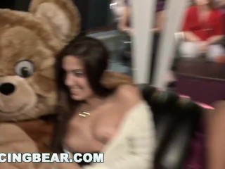 Preview 4 of DANCING BEAR - Wild Party Girls Suck Off Big Dick Male Strippers!