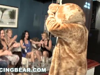 Preview 5 of DANCING BEAR - Wild Party Girls Suck Off Big Dick Male Strippers!