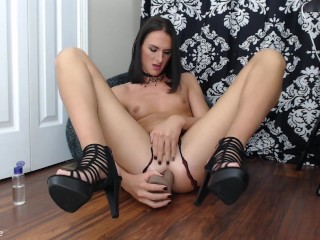 Preview 4 of SkyrieRose loves her thick dildo in ass to mouth scene