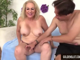 Preview 6 of Lustful Older Lady Summer Blows a Dude and Makes Him Fuck Her