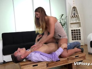 Preview 1 of Pissing While Fucking - Czech babe Nicole Vice enjoys fucking and piss play
