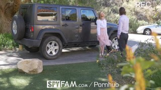 Preview 3 of SPYFAM Step sister CREAMPIED for damaging car